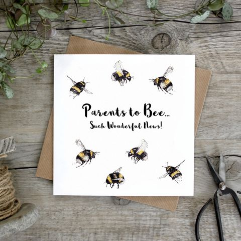Parents,To,Bee,Such,Wonderful,News,Card,buy bee parents to be cards online, buy parents to be card online, buy baby shower cards online, buy happy pregnancy cards online, buy maternity leave cards online, buy baby news cards online