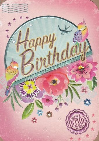 Birds,Have,A,Wonderful,Day,Birthday,Card,buy female birthday cards online, buy birthday cards for her online, buy floral birthday card online, female birthday cards with birds, birthday cards with birds, bird birrthday card for her, buy birthday cards with flowers online,