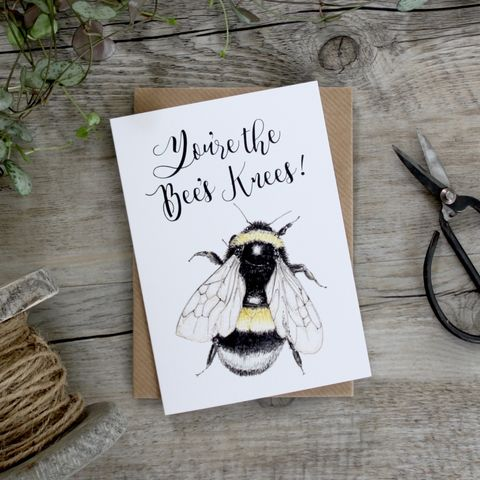 Bumblebee,You,Are,The,Bees,Knees,Card,buy well done cards online, buy congrats cards online, buy you are the bees knees cards online, buy bee cards online, buy bumblebee cards online, buy just because bee birthday cards, buy friendship cards online, buy thinking of you cards online, buy warm