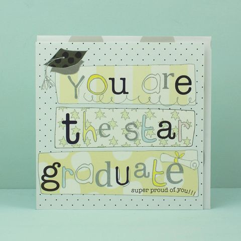 The,Star,Graduate,Graduation,Card,buy graduation card online, buy graduation day card online, card for graduation, graduation cards, card for graduate, congratulations card