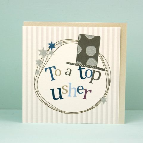 Top,Usher,Thank,You,Card,buy usher thank you card online, top usher card, buy wedding party thank you cards online, best man card, cards for ushers