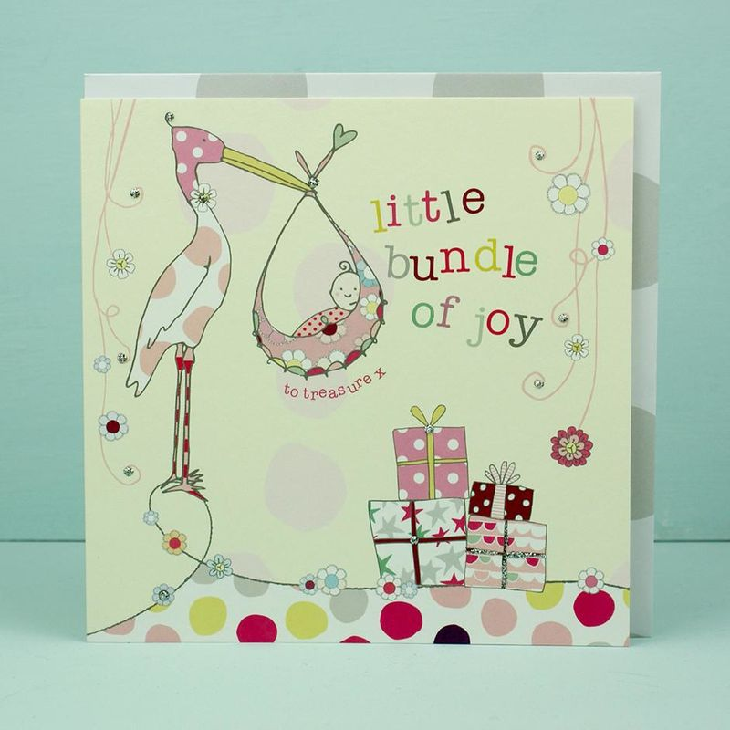 Little Bundle of Joy New Baby Girl Card - product images