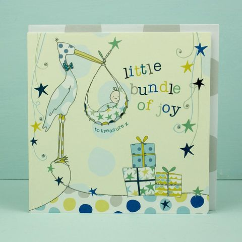 Little,Bundle,of,Joy,New,Baby,Boy,Card,buy baby boy cards online, buy cards for new baby online, buy congratulations card for new baby boy online, stork new baby cards, buy new baby boy cards online,