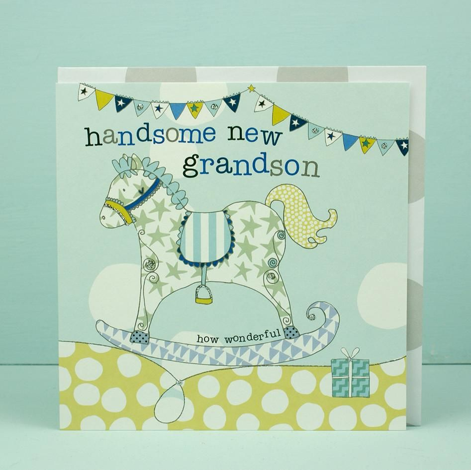 New baby grandson card grandparents congratulations card new baby grandson card grandparents congratulations card kristyandbryce Choice Image