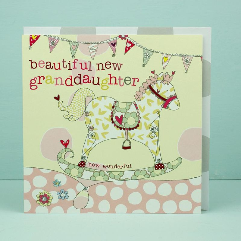 New Baby Granddaughter Card - Grandparents Congratulations Card - product images
