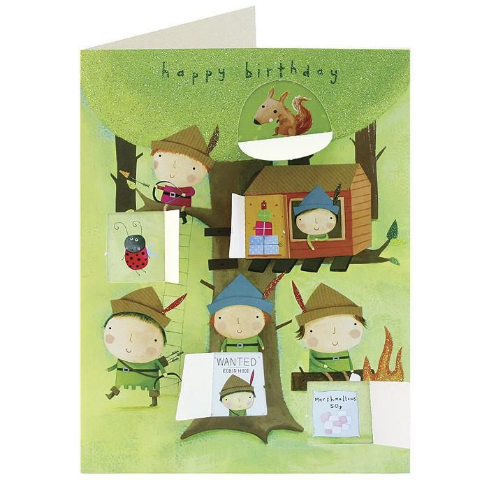 Robin Hood Behind Closed Doors Card - Boys Birthday Card - product images