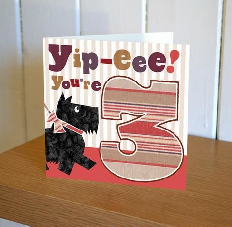 Dog,3rd,Birthday,Card,buy 3rd birthday cards online, buy age three birthday cards online, buy girls 3rd birthday card online, buy boys age three cards online, boy dog birthday cards online,third birthday card, age three card, cards for third birthday, age 3 card, scottie dog b
