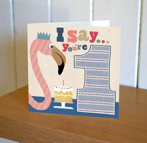 Flamingo,1st,Birthday,Card,buy first birthday cards online, buy cards for baby's first birthday online, buy age one birthday cards online, buy flamingo first birthday cards online, cards for baby's 1st birthday, baby girls first birthday card, age one girls birthday card, 1st birth