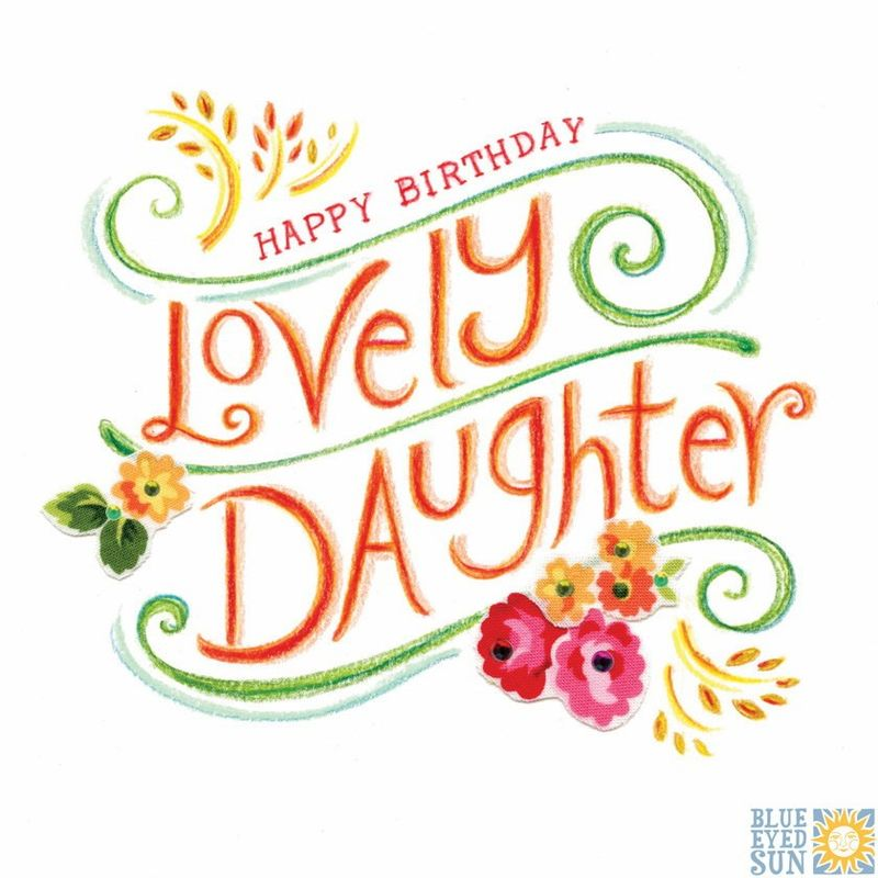Lovely Daughter Birthday Card