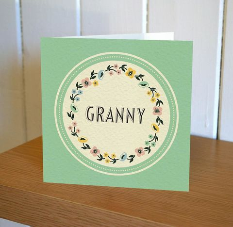 Granny,Card,-,Floribunda,Mini,buy birthday cards for granny online, buy art deco birthday cards online, buy female birthday cards online, buy birthday cards with flowers online, buy floral birthday cards online