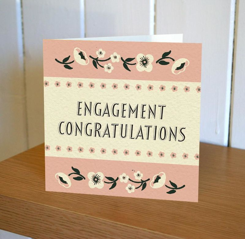 Engagement Card - Floribunda Mini Card - product images  of