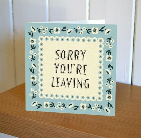 Sorry You're Leaving Card - Floribunda Mini Card - product images  of