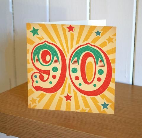 Retro,90th,Birthday,Card,buy 90th birthday card online, buy age ninety birthday card online, ninety birthday card for her, 90th birthday card for him, ninety birthday card, 90th card, buy age birthday cards online,