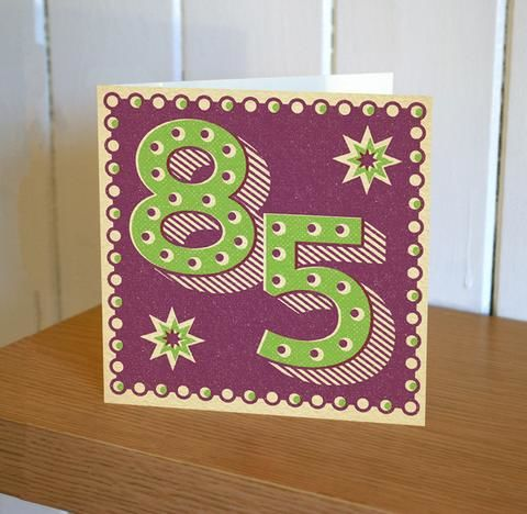 Retro,85th,Birthday,Card,buy 85th birthday card online, age eighty-five birthday card, eighty five birthday card for her, 85th birthday card for him, eighty-fifth birthday card, 85th card, buy age birthday cards online,