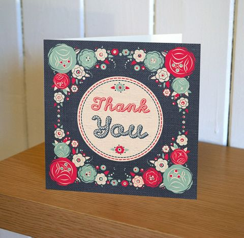 Floral,Thank,You,Card,buy thank you cards online, buy thank you cards with flowers online, buy floral thank you cards, buy thank you cards for her online, buy pretty thank you cards online