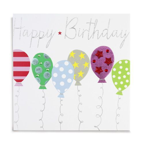Handmade Balloons Happy Birthday Card - product images  of