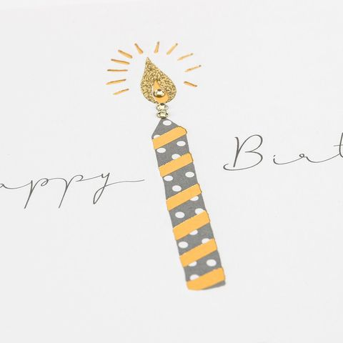 HandFinishedHappyBirthdayCandleCardbuy Gender Neutral Birthday