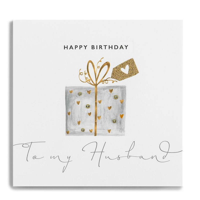 Hand Finished To My Husband Birthday Card - product images  of
