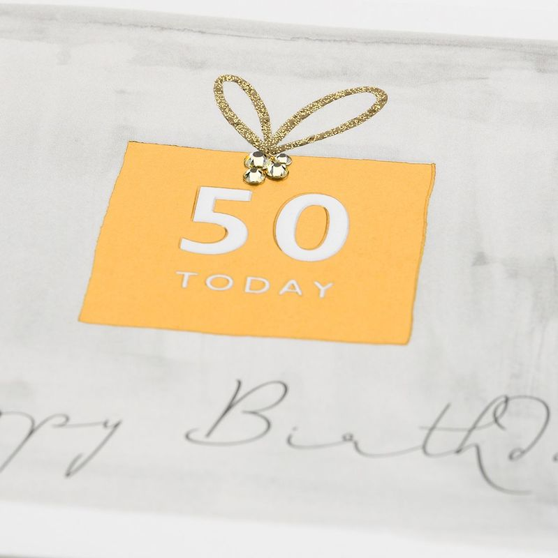 Hand Finished 50 Today Happy Birthday Card - product images  of