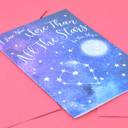 I Love You More Than All The Stars In The Sky Card - product images  of