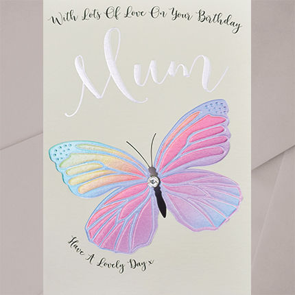 Hand,Finished,Butterfly,With,Lots,of,Love,Mum,Birthday,Card,buy birthday cards for mum online, buy butterfly birthday card for mums online, buy beautiful mum birthday card online, buy mum birthday cards with butterflies online, parent birthday cards, birthday cards for parents, birthday card for lovely mum
