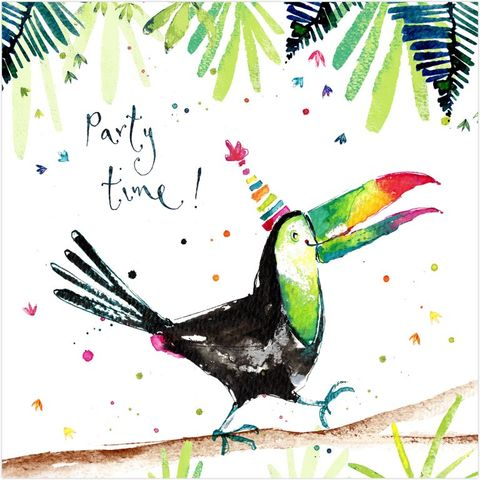 Toucan,Party,Time,Birthday,Card,buy bird birthday cards online, buy toucan birthday card online, buy birthday card with toucans online, buy birthday cards for him online, buy birthday cards with birds online, buy birthday cards for her online, unisex birthday cards with birds, kids jung