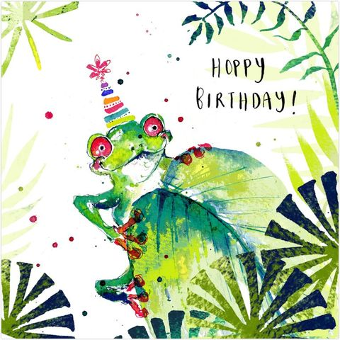 Tree Frog Hoppy Birthday Card
