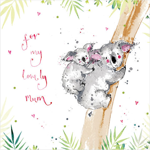 Lovely,Mum,Koala,Bears,Card,buy birthday cards for mum online, buy mum birthday cards online, buy koala bear mum cards online, buy lovely mum card online, buy mothers day card online, buy cards for mothering sunday online, buy bear cards for lovely mum online, buy animal cards for m