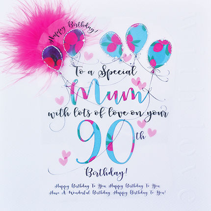 Handmade,Mum,90th,Birthday,Card,-,Large,,Luxury,buy mum 90th birthday card online, buy 90th birthday cards for mums online, 90th birthday card for mum, cards for mums, ninetieth birthday card, large 90th birthday card for mum, luxury age 90 card for mum, mum's 90th card, age ninety card