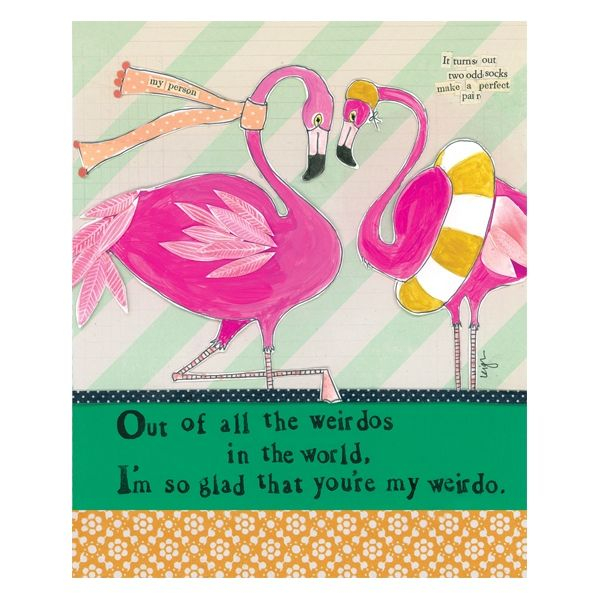 Out Of All The Weirdos In The World Card -  Curly Girl Design Card - product images