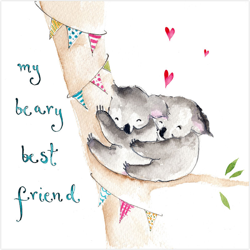 My Beary Best Friend Koala Bears Card - product images