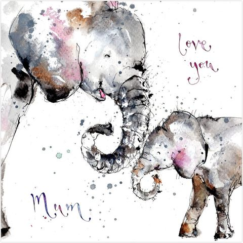 Love,You,Mum,Elephants,Card,buy birthday cards for mum online, buy mum birthday cards online, buy elephant mum cards online, buy lovely mum card online, buy mothers day card online, buy cards for mothering sunday online, buy elephant cards for lovely mum online, buy animal cards for