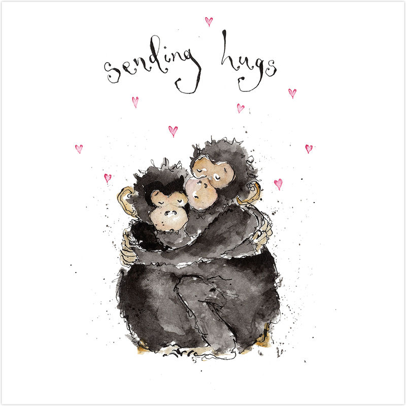 Sending Hugs Monkeys Card - product images