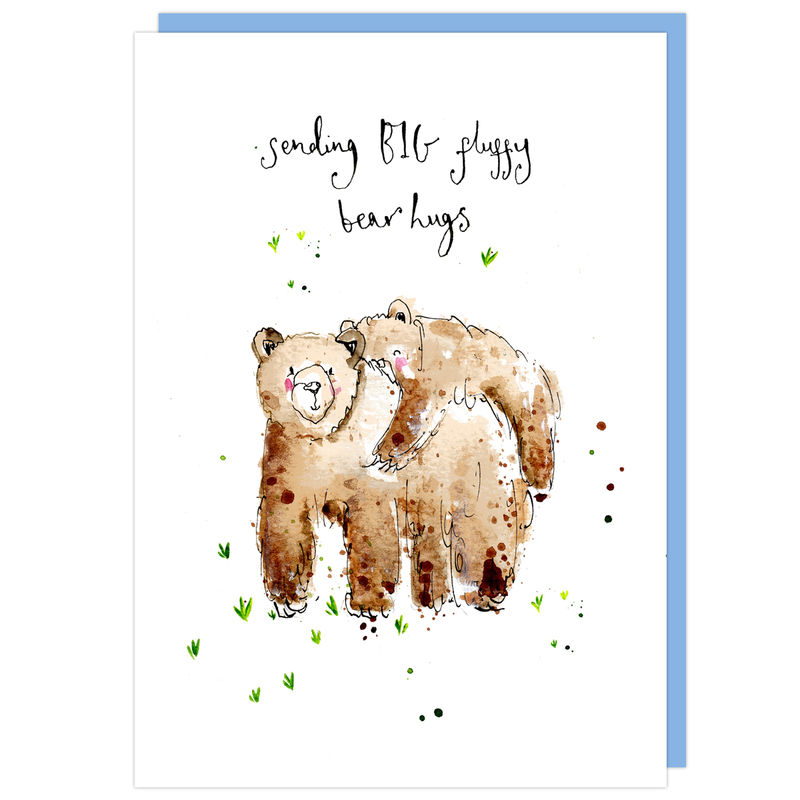 Sending Big Bear Hugs Bear Card - product images