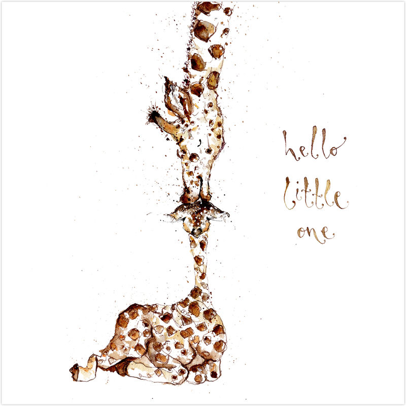 Hello Little One Giraffe New Baby Card - product images