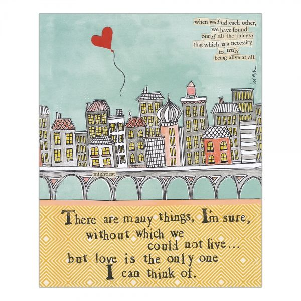 We Could Not Live Without Love Card -  Curly Girl Design Card - product images