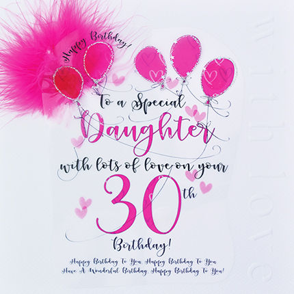 Handmade,Daughter,30th,Birthday,Card,-,Large,,Luxury,buy daughter 30th birthday card online, 30th birthday card for daughter, cards for daughters, thirtieth brithday card, large 30 birthday card for daughter, luxury age thirty card for daughter, 30th birthday cards,