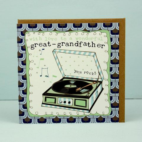 Wonderful,Great-Grandfather,Card,buy fathers day cards online, buy cards for father's day card online, great-grandfather fathers day cards, fathers day cards for great grandfathers, great-grandad cards, record player cards for great grandads, great grandparent card