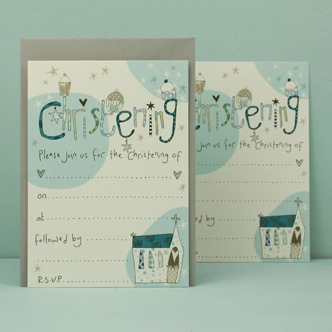 Pack,of,8,Blue,Christening,Invitations,buy christening invitations online, buy baby's christening invites online, christening day invitations, baby boy christening invites, invitations for baby's christening