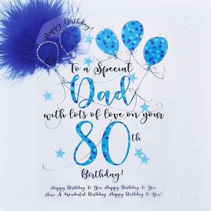Handmade Dad 80th Birthday Card
