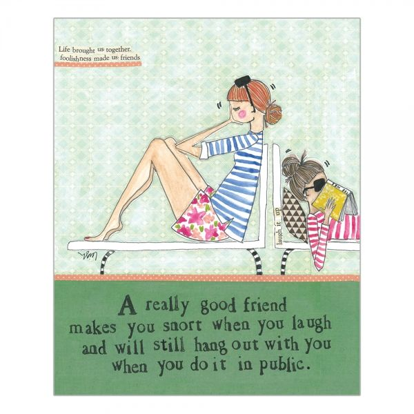 A Really Good Friend Card -  Curly Girl Design Card - product images