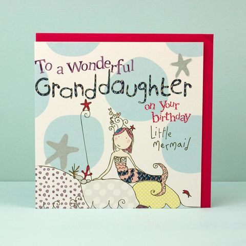 Granddaughter,Mermaid,Birthday,Card,buy granddaughter birthday card online, grand daughter birthday card, grand-daughter birthday card, card for granddaughter card for grand daughter, card for grand-daughter, cards for granddaughters, mermaid birthday card, girls birthday cards