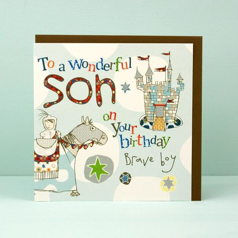 Son,Knight,Birthday,Card,buy son birthday card online, buy birthday cards for young sons online, son card, card for son, castle birthday casrd, knight birthday card, horse birthday card, childrens birthday cards, boys birthday card
