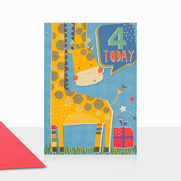 Giraffe 4 Today Birthday Card - product images  of
