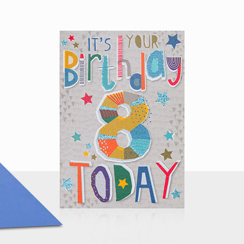 It's,Your,Birthday,8,Today,Card,buy 8th birthday cards online, buy age eight birthday cards online, buy boys 8 today birthday card online, buy 8th birthday cards for children online, buy 8th birthday cards online for boys, birthday card for boys