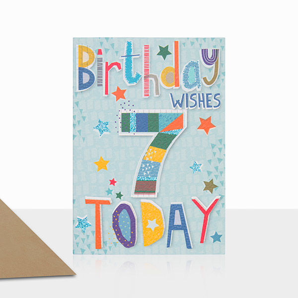 Birthday Wishes 7 Today Birthday Card - product images  of