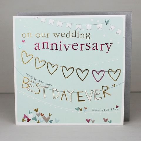 On,Our,Wedding,Anniversary,Best,Day,Ever,Card,buy on our wedding anniversary card online, buy anniversary card online, buy wedding anniversary cards online, buy cards for anniversaries online, happy anniversary card, buy wedding anniversary card online, buy champagne anniversary cards, buy wife anniv