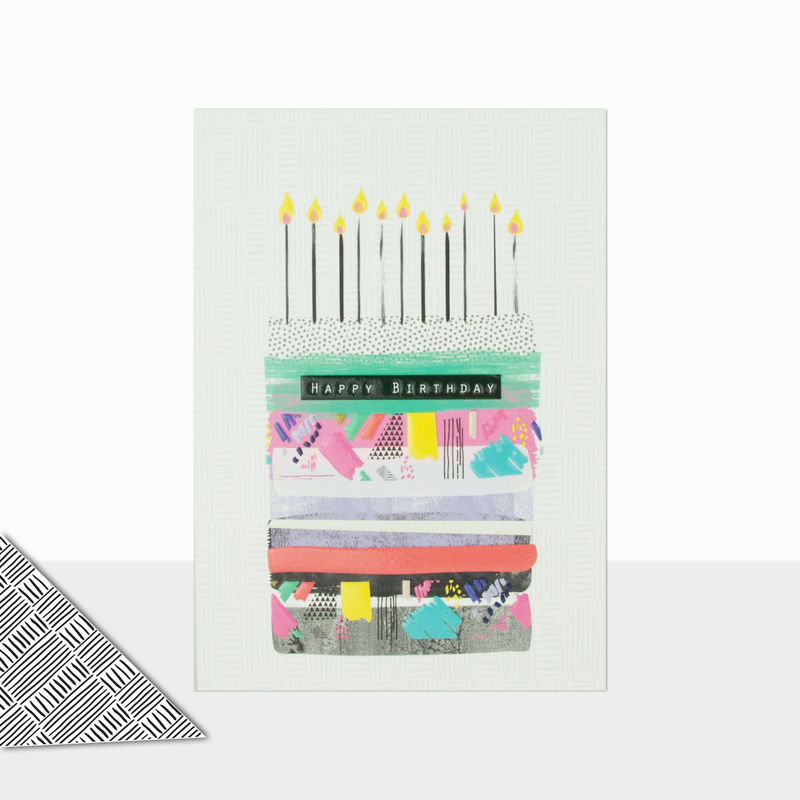 Birthday Cake & Candles Happy Birthday Card - product images  of