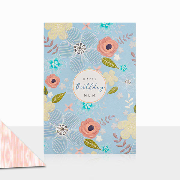Floral Mum Happy Birthday Card - product images  of