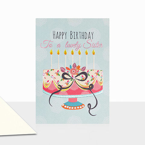 To,A,Lovely,Sister,Happy,Birthday,Card,buy birthday cards for sister online, buy birthday cards for sisters online, buy birthday cake birthday cards for sisters online, buy lovely sister birthday card online, cards for special siblings online